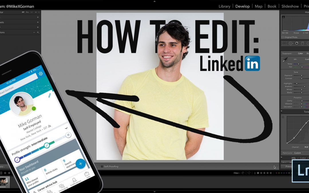 Edit LinkedIn Photos (Lightroom Tutorial)